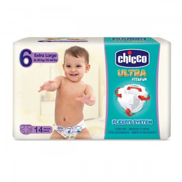 Plienky Chicco Ultra Extra Large 16-30kg 14ks