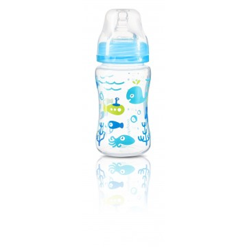Fľaša antikoliková KLASIK modrá 240 ml