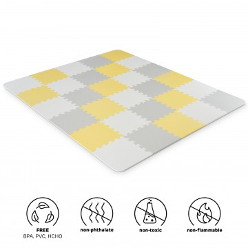 Podložka penová puzzle Luno 150x180 cm Yellow Kinderkraft 2020