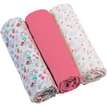 Plienky mušelínové - Super soft 3ks - Ružové