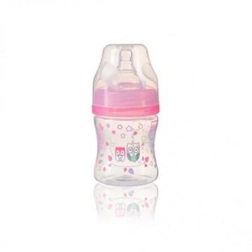 Fľaša antikoliková KLASIK ružová 120 ml 0m+