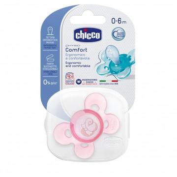 Cumlík silikónový Physio Comfort ružová 1ks 0-6m