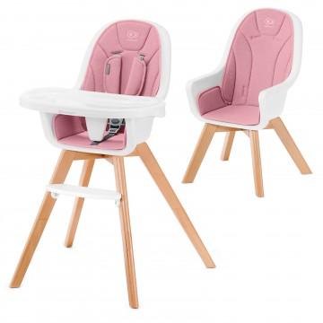Stolička jedálenská 2v1 Tixi Pink Kinderkraft 2020