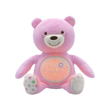 Medvedík s projektorom - ružová 0m+