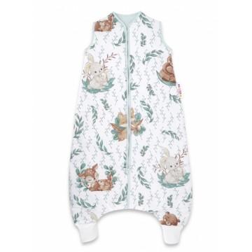 Baby Nellys, Spací vak s nohavičkami LULU natural, 90 cm - zelená