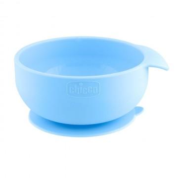 CHICCO Silikónová miska s prísavkou modrozelená 6 m+