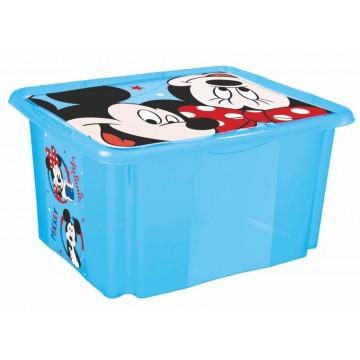 Keeeper Box na hračky Mickey Mouse 45 l, modrý