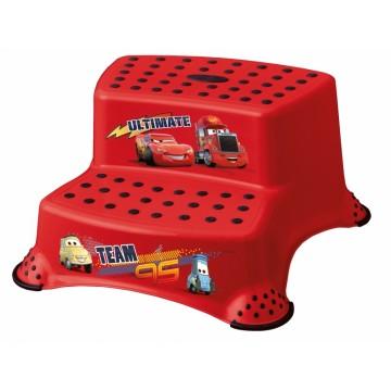 Keeeper Stolička - schodíky s protišmykovou funkciou - Cars II - červená