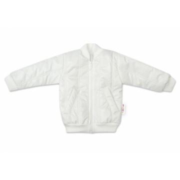 Baby Nellys Detská prešívaná prechodová bunda, biela, veľ. 92