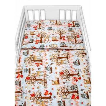 Baby Nellys 2 - dielne bavlnené obliečky - Koloušek a kamaráti, 135 x 100