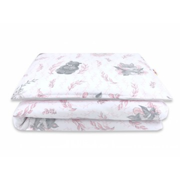 Baby Nellys 2-dielne bavlnené obliečky, LULU - růžová