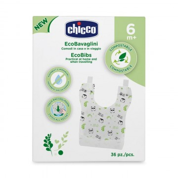 CHICCO Jednorázové kompostovateľné podbradníky 36 ks