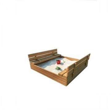 Drevené pieskovisko s lavičkami impregnované 150cm