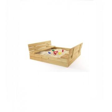 Drevené pieskovisko s lavičkami prírodné 120cm
