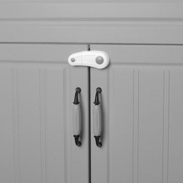 Zámok skriniek 2ks, white/grey