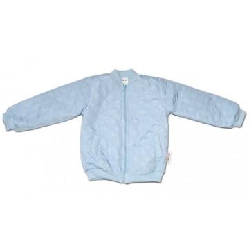 Baby Nellys Dojčenská prešívaná prechodová bunda, svetlo modrá