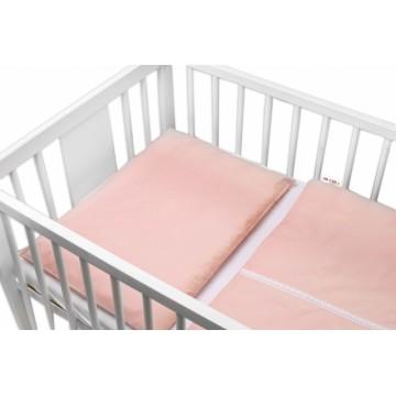 Baby Nellys Luxusní 2 - dielne bavlnené obliečky - Royal Baby, pudrová