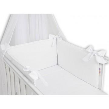 Baby Nellys Luxusní 3-dielna sada Mantinel s obliečkami Royal Baby  - biela