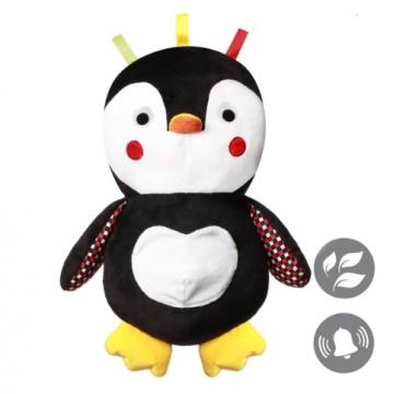 Hračka plyšová s hrkálkou C-MORE tučniak Connor 30x45cm